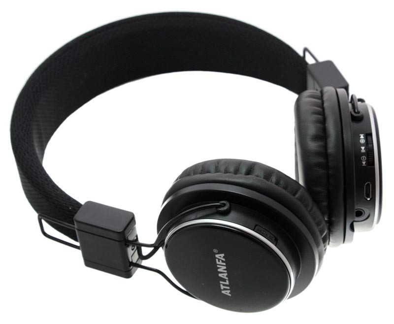Наушники беcпроводные Atlanfa AT - 7611 с Bluetooth, MP3 и FM