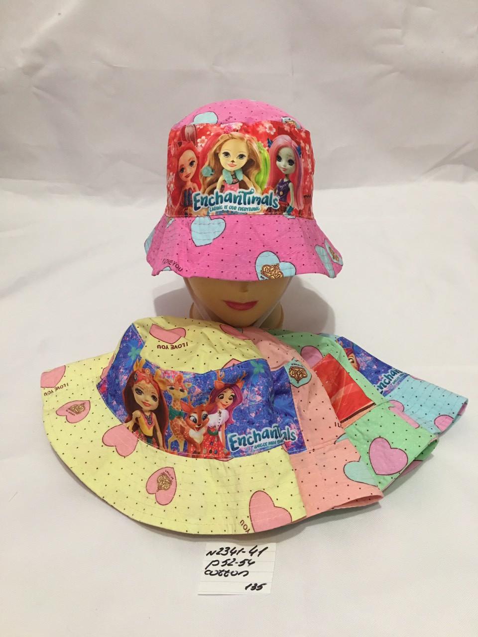 Летняя детская панамка для девочки р.52-54 100% cotton