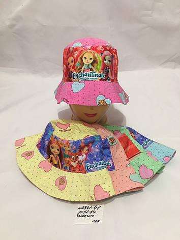 Летняя детская панамка для девочки р.52-54 100% cotton, фото 2