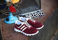 Стильные бордовые кроссовки для мужчин, фото 1