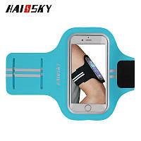 Спортивный чехол на руку для смартфонов Sea & sky размер телефона 16х8 см голубой