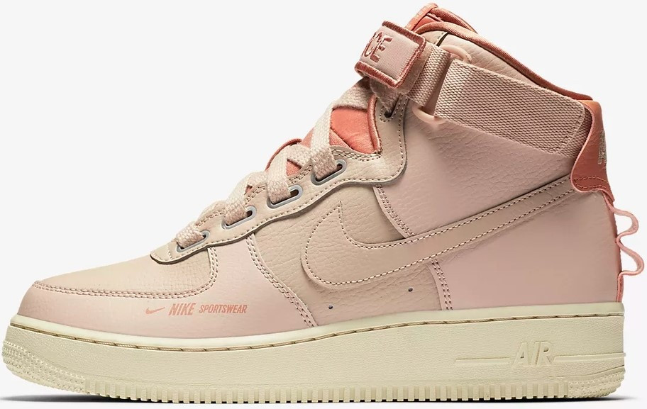 """Женские кроссовки в стиле Nike Air Force Utility """"Pink"""""""