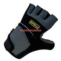 Велоперчатки SPELLI SCG 345 серо-черные L
