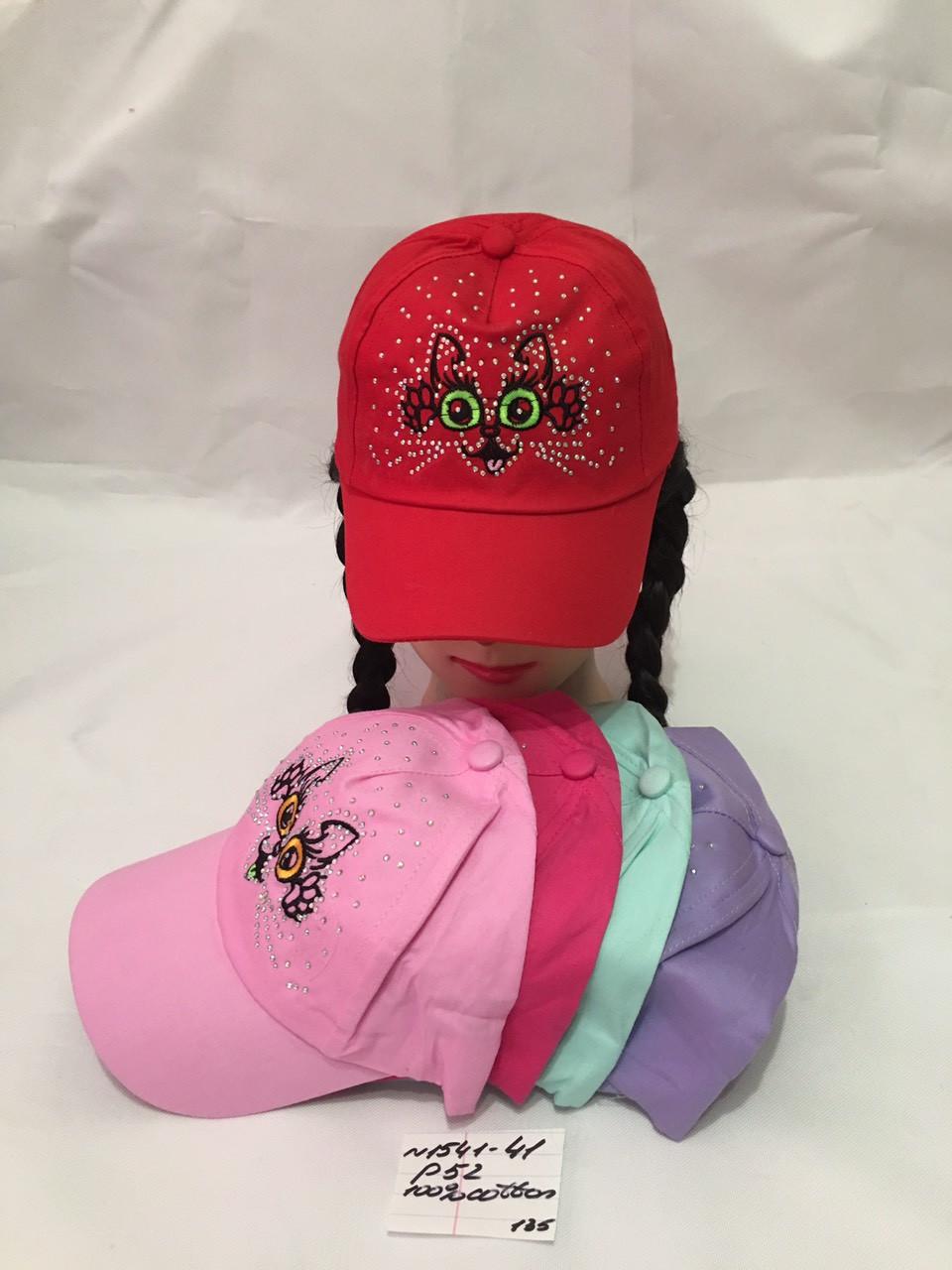 Детская летняя кепка для девочки Киса р.52 100% cotton