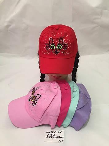 Дитяча літня кепка для дівчинки Киця р. 52 100% cotton, фото 2