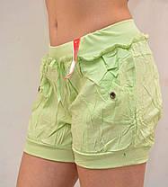 Шорты женские с боковыми и задними карманами - хлопок, фото 2