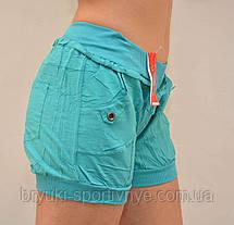 Шорты женские с боковыми и задними карманами - хлопок, фото 3