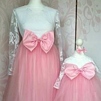 eb4428bbae0183 Комплект платьев Мама и дочка Family look (индивидуальный пошив)