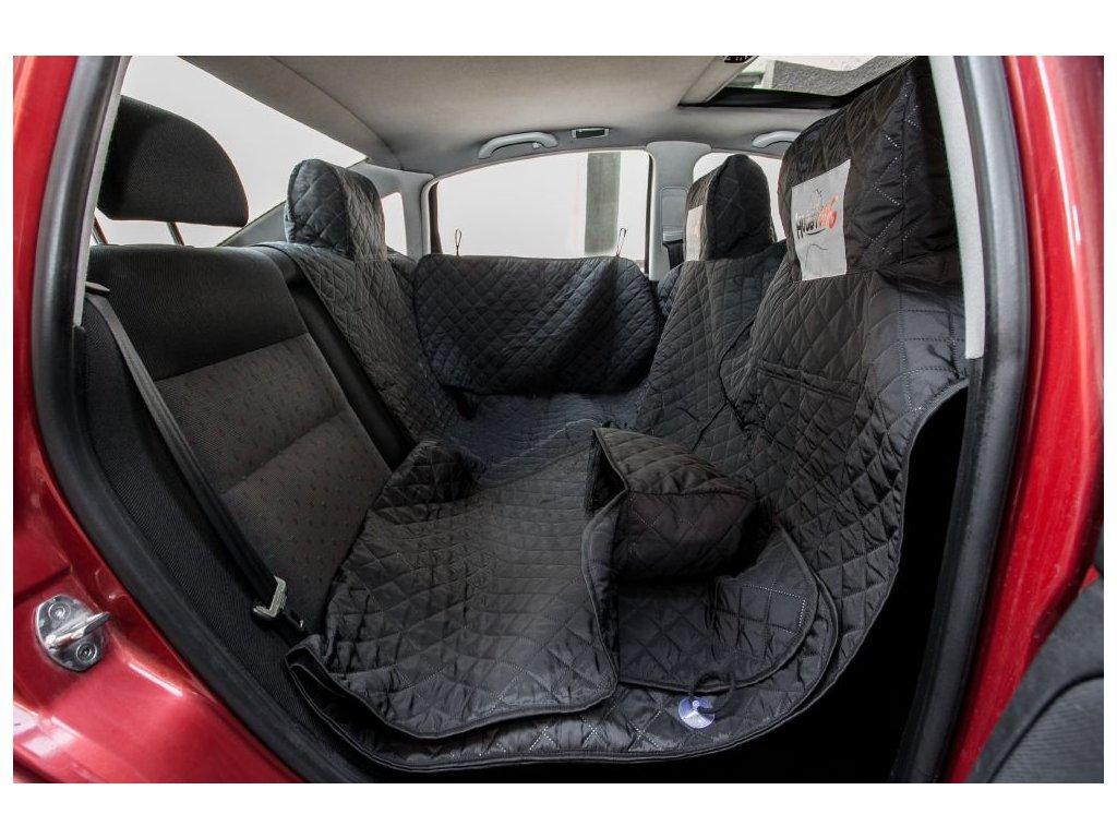 Автогамак для перевозки собак в автомобиле HobbyDog A001 220x140 см черный