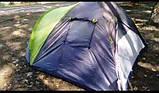 Палатка туристическая трех местная GreenCamp 1011-2, на 2 входа с тамбуром, двухслойная, размеры 330х215х150 с, фото 2