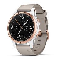 Авиационные часы Garmin D2 Delta S,Sapphire,White Rose Gold w/White Band,GPS,EMEA