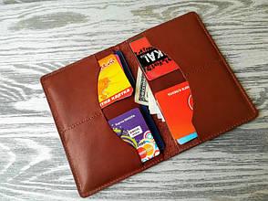 Портмоне - обложка для паспорта , тревел-кейс, travel коричневый кельтский узел, фото 2