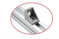 Уголок для алюминиевого станочного профиля т-слот 2020, фото 1