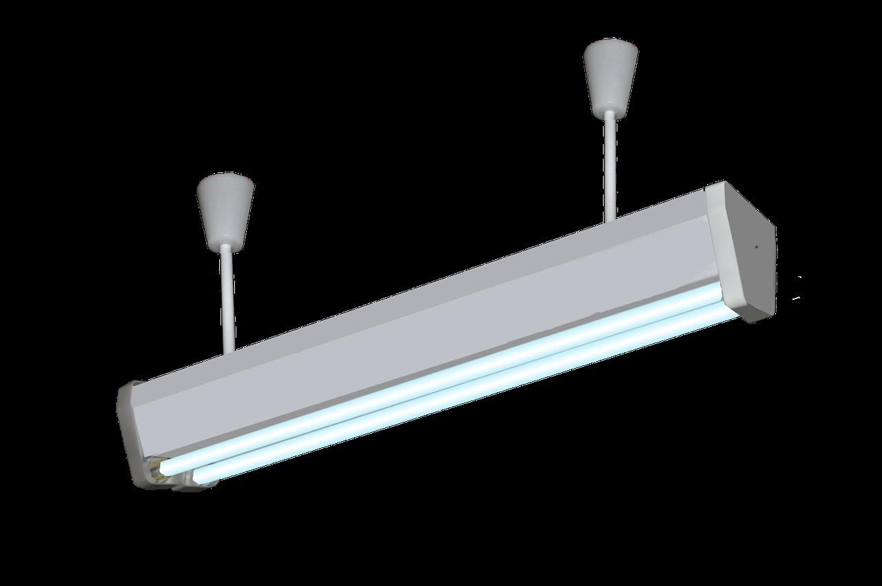 Облучатель бактерицидный потолочный ОБП-300м (4-30 Вт) (кварцевая лампа Philips, безозоновая)