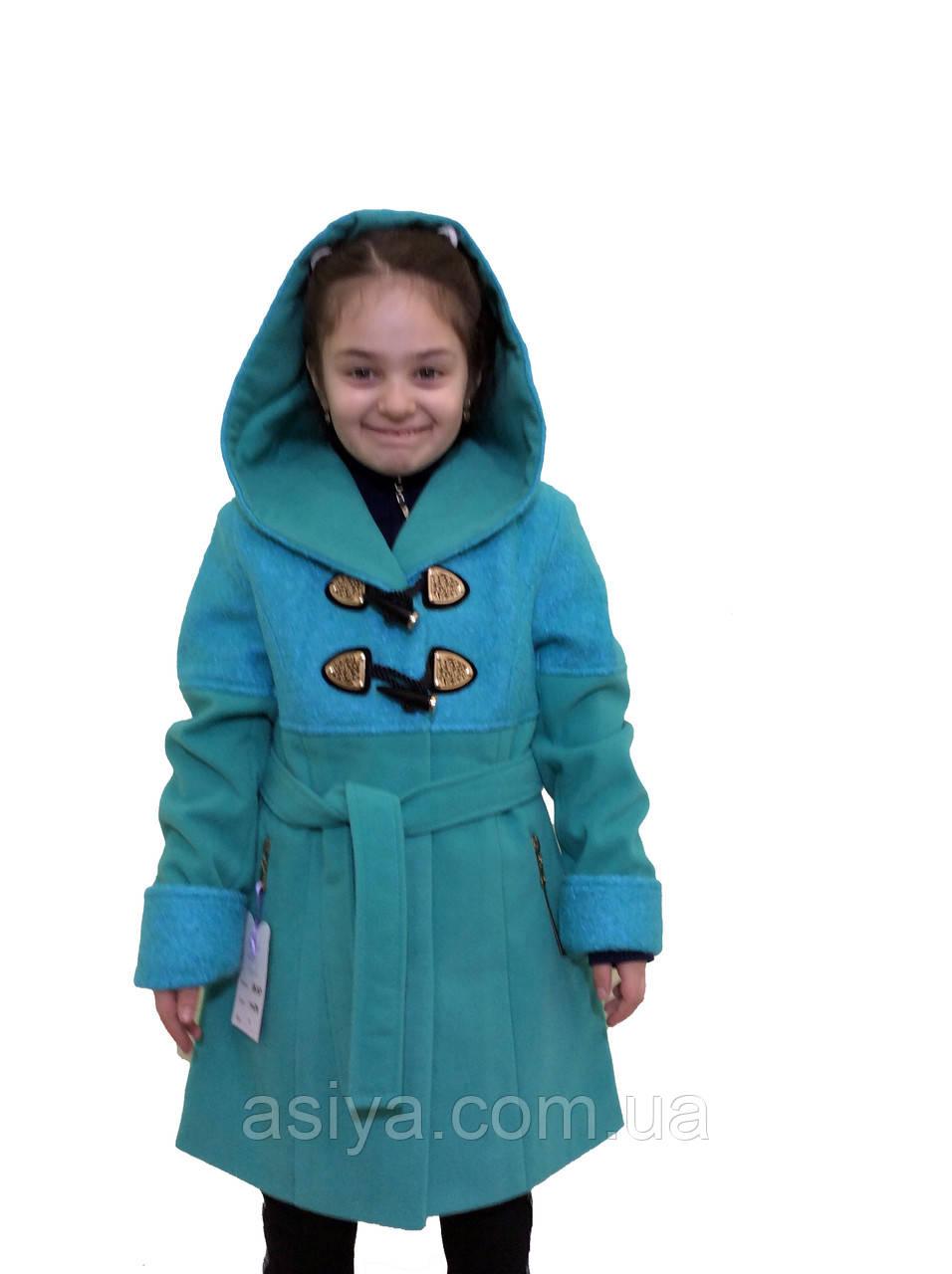 """Комбіноване пальто з кашеміру і букле для дівчинки - """"Букле"""""""