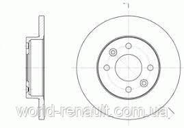 Тормозной диск передний на Renault Symbol, Clio D=238мм/ REMSA 6067.00