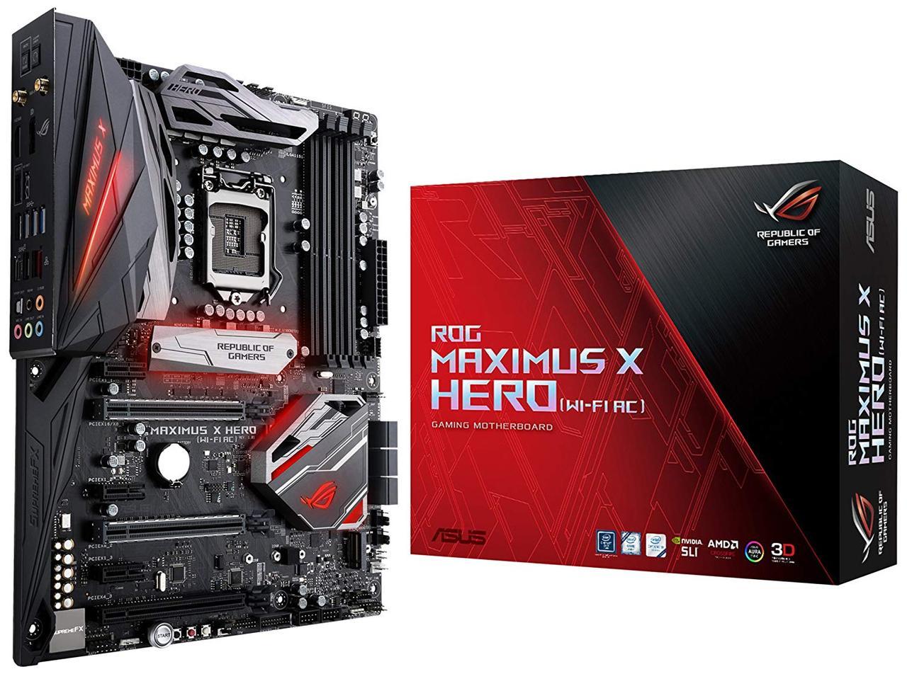 "Материнская плата Asus Rog Maximus X Hero (Wi-Fi AC) Socket 1151v2 Z370 DDR4 ""Over-Stock"" Б/У"