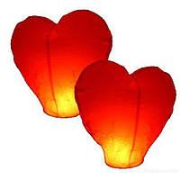 Топ! Бумажный Небесный фонарик Сердце 110 см на Свадьбу