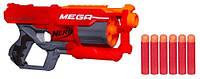Бластер Cycloneshock N-Strike MEGA Nerf 6 Мега-патронов вращающийся барабан в коробке , фото 1