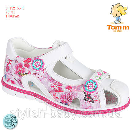 Дитяче літнє взуття оптом. Дитячі босоніжки бренду Tom.m для дівчаток (рр. з 26 по 31), фото 2