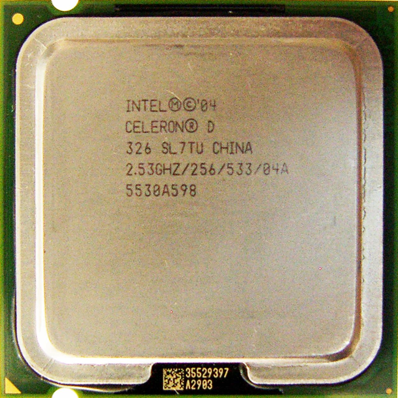 Процессор Intel Celeron D 325 2.53GHz/256/533 (SL7TU) s478, tray