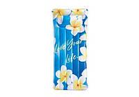 Intex 58772-flowers, надувной матрас для плавания. Цветы, 178x84см, фото 1