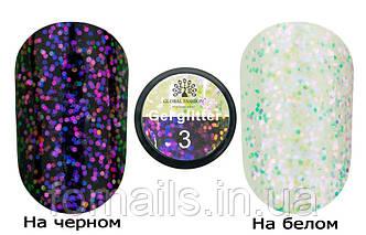 Glitter Gel Chameleon Global Fashion M003, 5 г