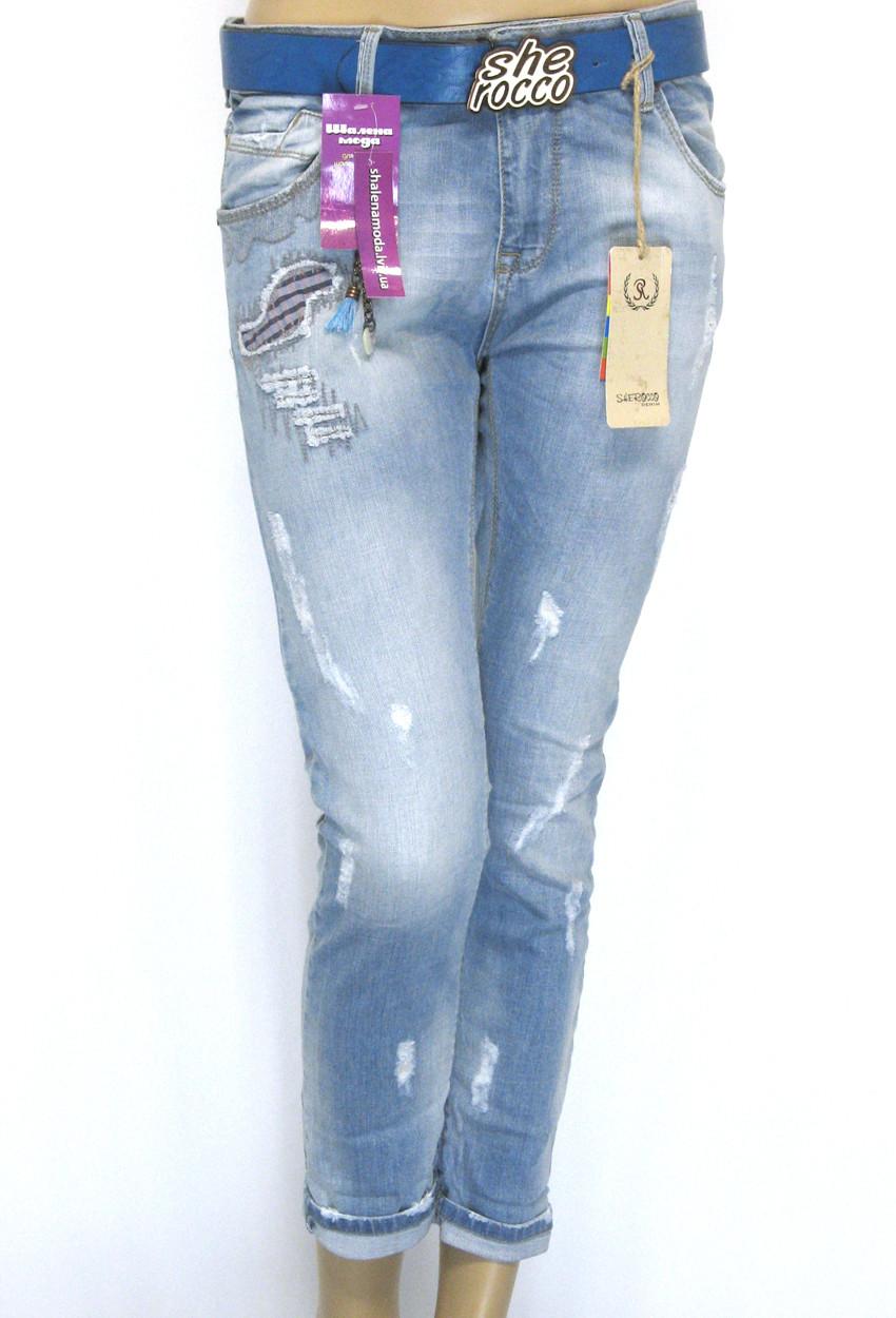 Женские модные джинсы бойфренды