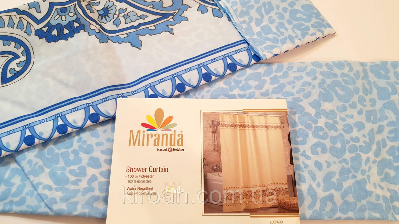 Штора для ванной/душа Миранда (синий) LEOPARD