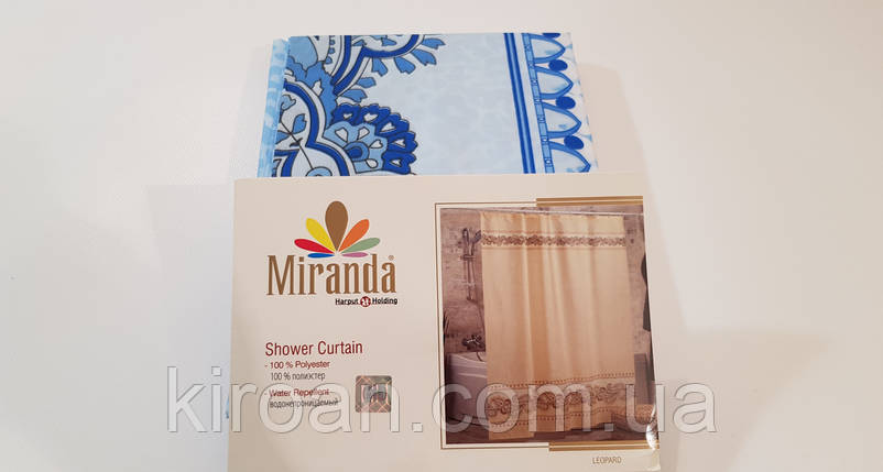 Штора для ванной/душа Миранда (синий) LEOPARD, фото 2