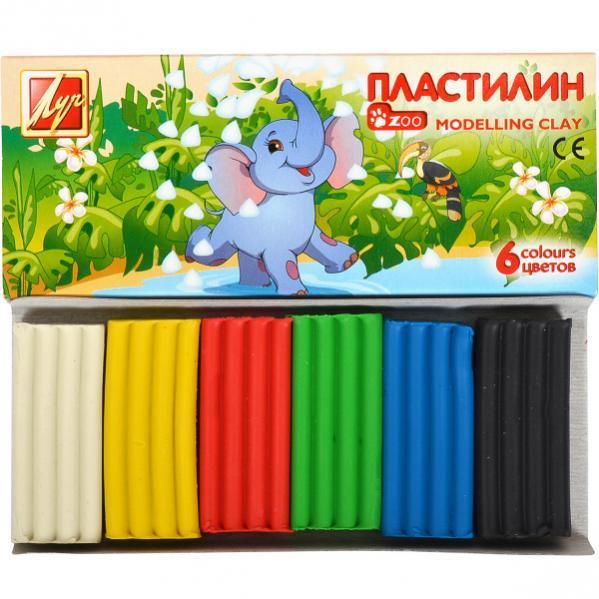 Пластилин «Мини» 6 цветов, 81 г «Луч»  1271-08