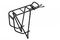 Багажник Crosso для велосипеда | Велобагажник Задний алюминиевый Чёрный (CO1012-black)