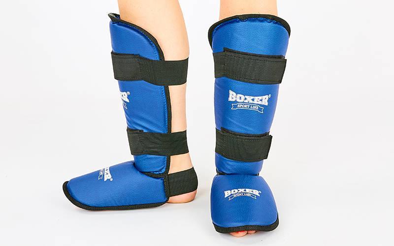Защита для голени и стопы кожвинил BOXER 2002-C
