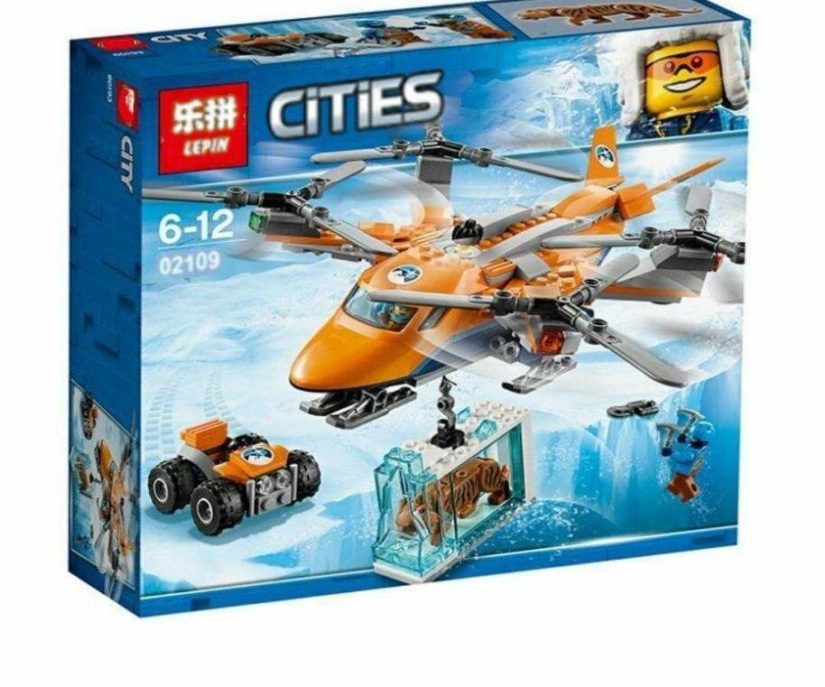 Конструктор Lepin 02109 City Арктическая экспедиция Арктический вертолёт 310 деталей