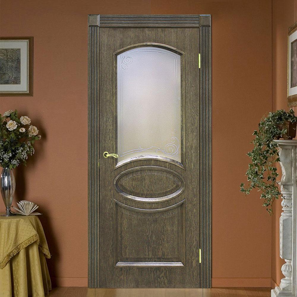 """Дверное полотно шпон Лаура """"СС+КР"""" Дуб шервуд"""
