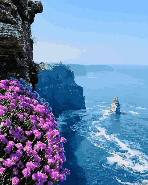 Картини по номерах 40×50 см. Утёсы Мохер - клиф в Ирландии, на берегу Атлантического океана, в графстве Клэр.