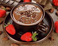 Картины по номерам 40×50 см. Горячий шоколад и клубника, фото 1