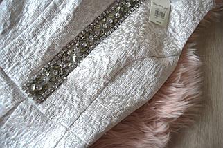Новое блестящее платье со встречной складкой Miss Selfridge, фото 3
