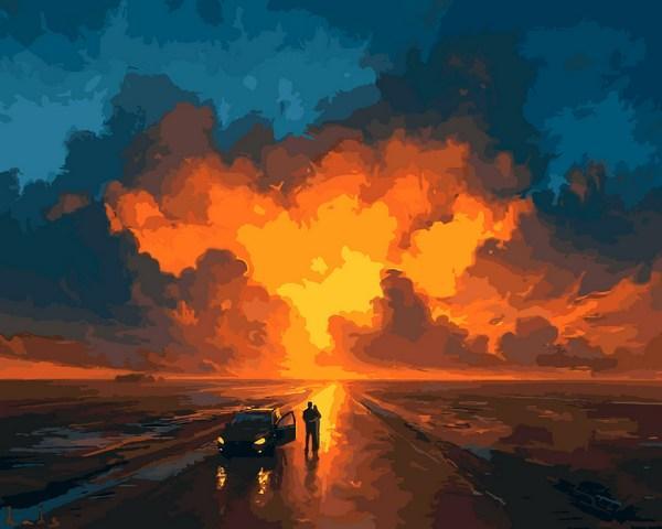 Картини по номерах 40×50 см. Представление Небес Художник Артем Чебоха