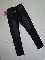 Джинсы стильные, р. 6-10 лет, серый, фото 1