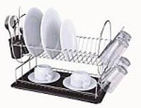 Сушилка для посуды двухъярусная 390*195* 365 мм