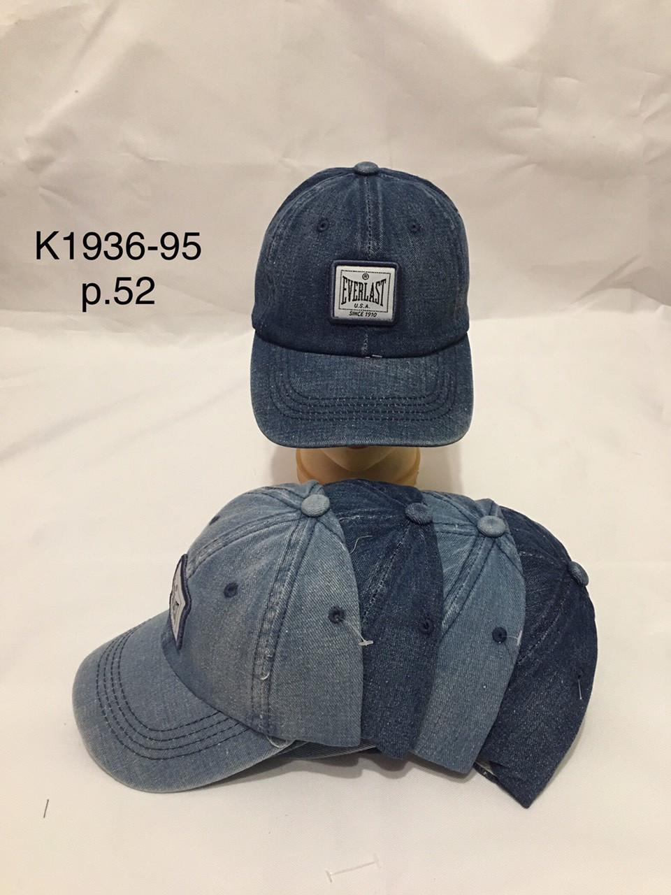 Джинсовая кепка летняя для мальчика р.52