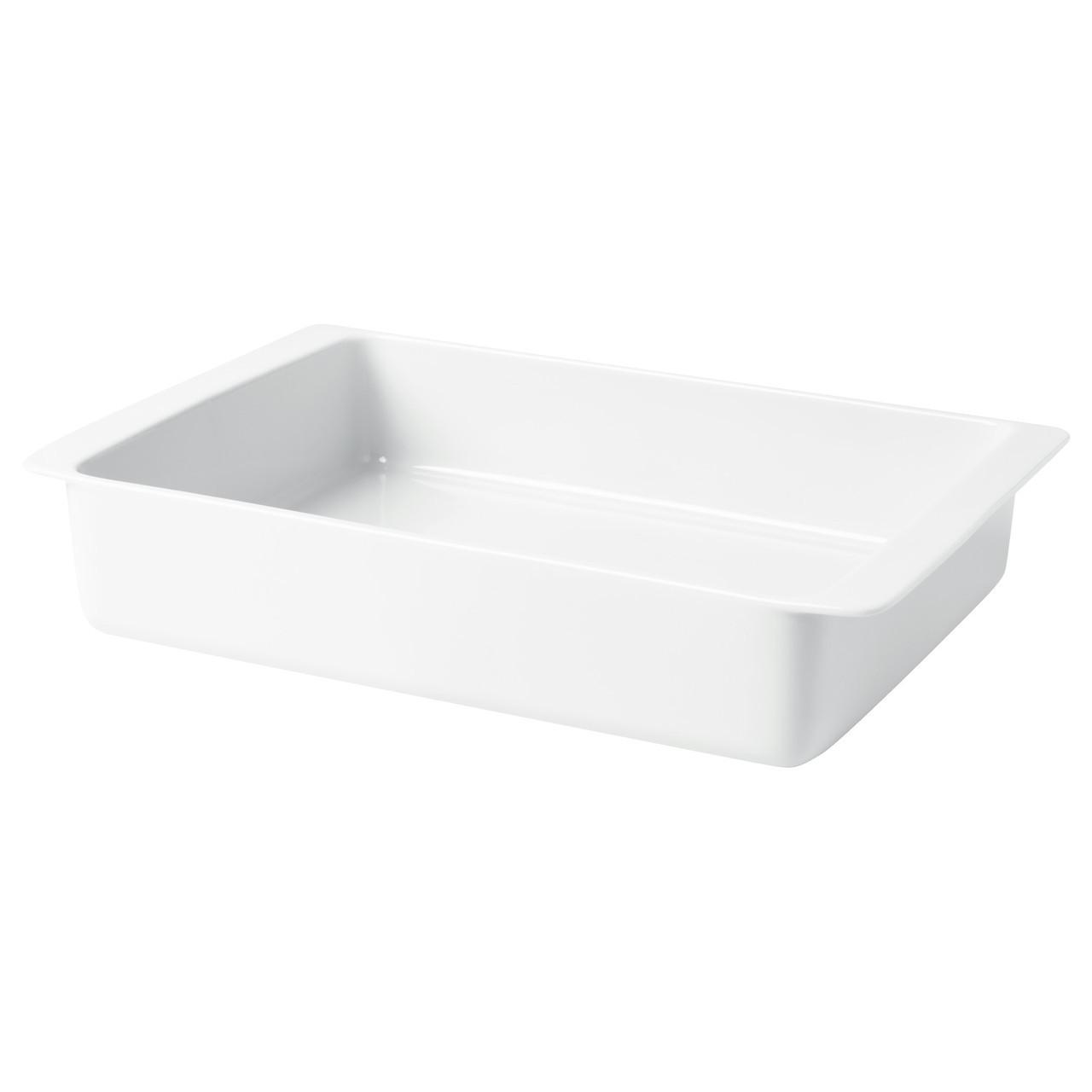 ИКЕА 365+ Термостойкое блюдо, белое