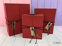 Оригинальная коробка подарок для девушки с дверцами на завязке шикарный подарок на 8 марта