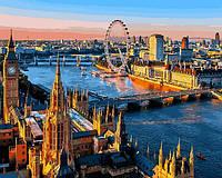 Картина по номерам 40×50 см. Лондон - город с древней историей