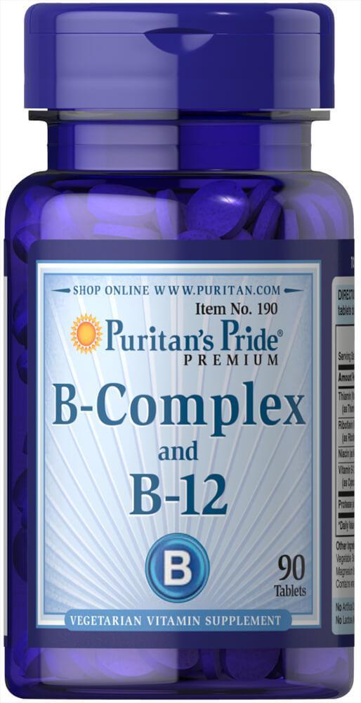 Витмаин Б Puritan's Pride B-Complex B-12 90 tabs