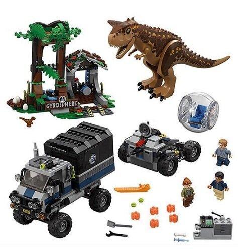 Конструктор Bela 10926 Парк юрского периода Побег в гиросфере от Карнотавра аналог Lego 75929