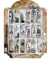 """Набор закладок картон """"Достопримечательности/Van Gogh/Марки"""""""