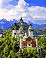 Картины раскраски по номерам 40×50 см. Замок Нойшванштайн Германия