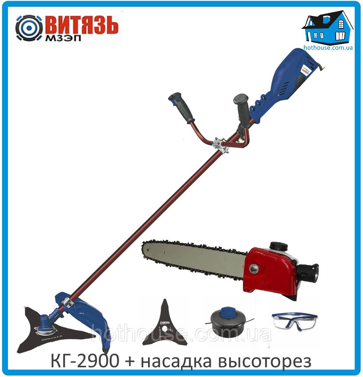 Электрическая коса Витязь КГ-2900 + насадка высоторез